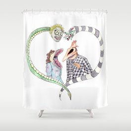 Beetle juice - Adam & Barbara Shower Curtain
