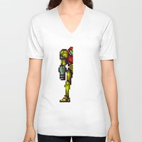 metroid V-neck T-shirts featuring Metroid by Slippytee Clothing