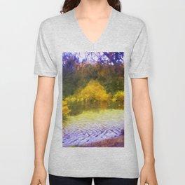 Colorful Lake Painting Unisex V-Neck