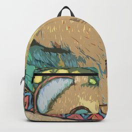 Cat in the moonlight Backpack