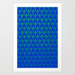 Chicago Pattern in Blue and Green  #decor #society6 #buyart Art Print