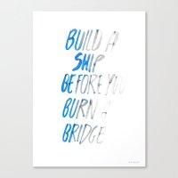 ship Canvas Prints featuring Ship by WRDBNR