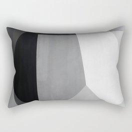 cubist grey shapes Rectangular Pillow