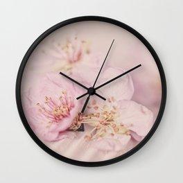 Romantic Soft Pink Peach Blossom Wall Clock