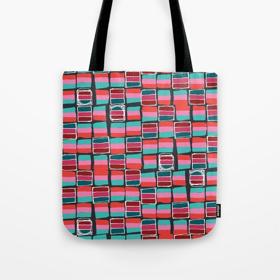 Pixel Pattern Tote Bag