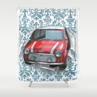 mini Shower Curtains featuring Mini by Magdalena Almero