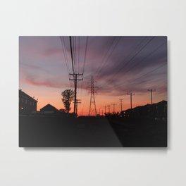 Lavallois Sunset - I Metal Print