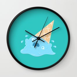 Dessert Death - Melting Ice Cream Wall Clock