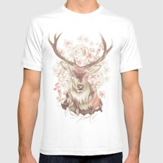 Stag of my Dreams Mens Fitted Tee White MEDIUM