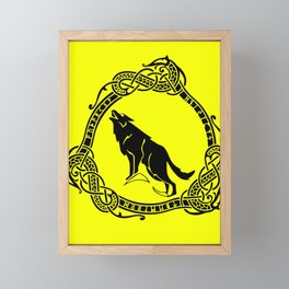 Fenrir Norse The Nordic monster wolf Framed Mini Art Print