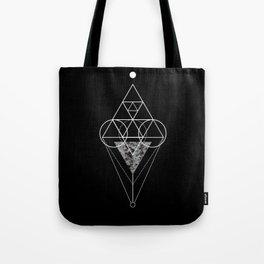Triangle texture geometry Tote Bag