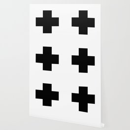 Black Swiss Cross Wallpaper
