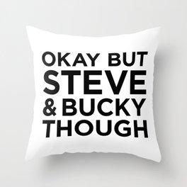 Steve and Bucky Though Throw Pillow