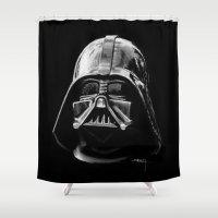 darth vader Shower Curtains featuring Darth by Creadoorm