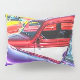 Candy Color Hot Rods, Tasty Automotive Art by Murray Bolesta Pillow Sham