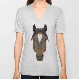 Horse // Blue Unisex V-Neck