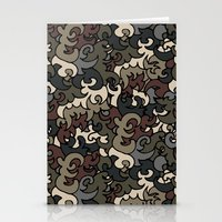military Stationery Cards featuring Military pattern by Julia Badeeva
