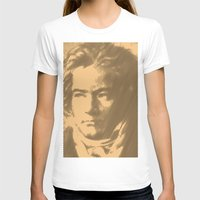 beethoven T-shirts featuring Beethoven Portrait  by Cool Prints