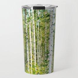 Sunny Day in Beautiful Birch Grove Landscape #decor #society6 #buyart Travel Mug