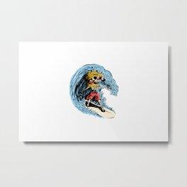 Surfboarding Metal Print