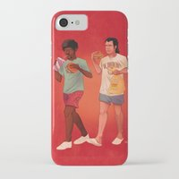 pulp fiction iPhone & iPod Cases featuring Pulp Fiction by Dave Collinson