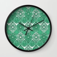 saffreya green Wall Clock