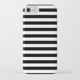 Modern Black White Stripes Monochrome Pattern iPhone Case