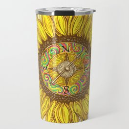 Sunflower Compass Travel Mug