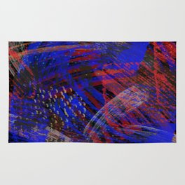 Abstract blue background Rug
