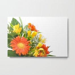 Arranged wedding handheld bouquet Metal Print