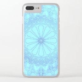 Mandala blue Clear iPhone Case