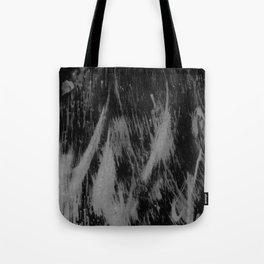 Gray black watercolor brushstrokes abstract pattern Tote Bag