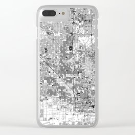 Phoenix White Map Clear iPhone Case