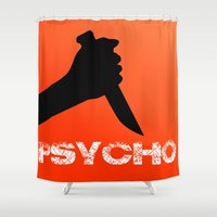 hitchcock Shower Curtains featuring Psycho / Hitchcock Lover's  by MY  HOME