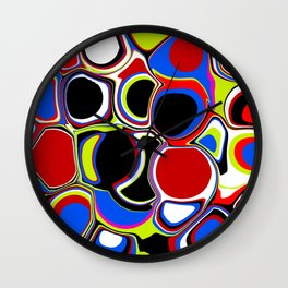 Bubbles Pouring Like Wall Clock