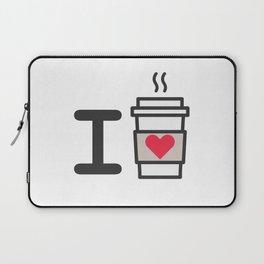 I LOVE COFFEE Laptop Sleeve