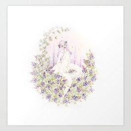Lilac Night Art Print