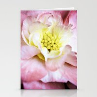 beth hoeckel Stationery Cards featuring Beth March - Pink Begonia by Regina Mountjoy