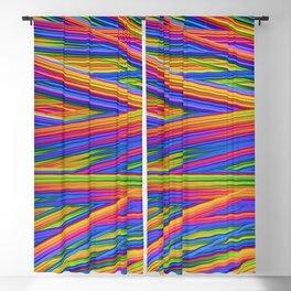 Feathery Rainbow Blackout Curtain