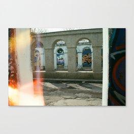 Through the Pillars Canvas Print
