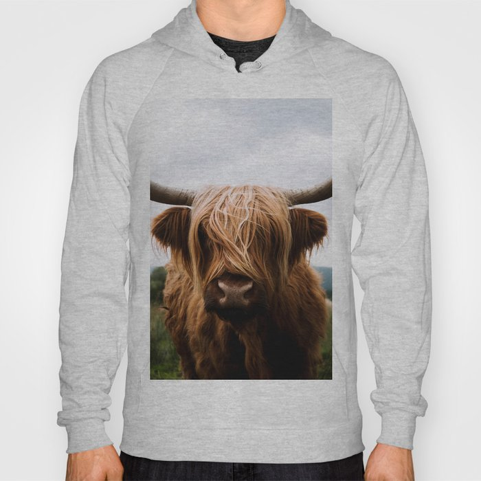 Scottish Highland Cattle in Scotland Portrait II Hoody