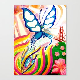 """""""SF Butterfly"""" by Adam France Canvas Print"""