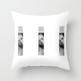 girl behind the... Throw Pillow