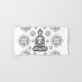 Buddha, HOME DECOR,with hand-painted Mandala Clouds,iPhone case,iPhone cover,iPhone skin,Laptop skin Hand & Bath Towel