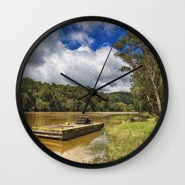 Pontoon on the Barron River Wall Clock
