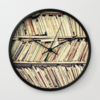 books Wall Clocks featuring books by PureVintageLove