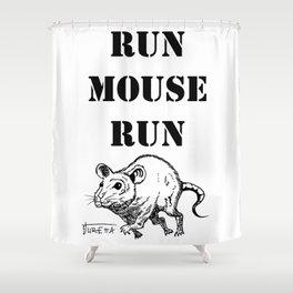 Run Mouse Run Shower Curtain