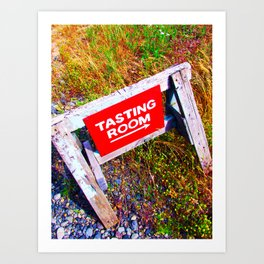 Tasting Room Sign At Ani Che Cellars Art Print