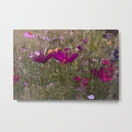 Wild Flowerbed 3 Metal Print