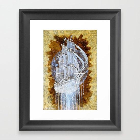 """""""Man-O-War III"""" Framed Art Print"""